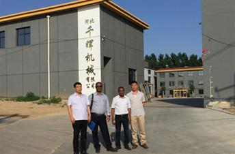 African customer Come to Visit Us and Talked About Complete Set of Plywood Production Line Machines for Making Construction Plywood