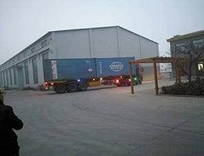 Heavy duty square timber multi-blade saw shipped to Portugal