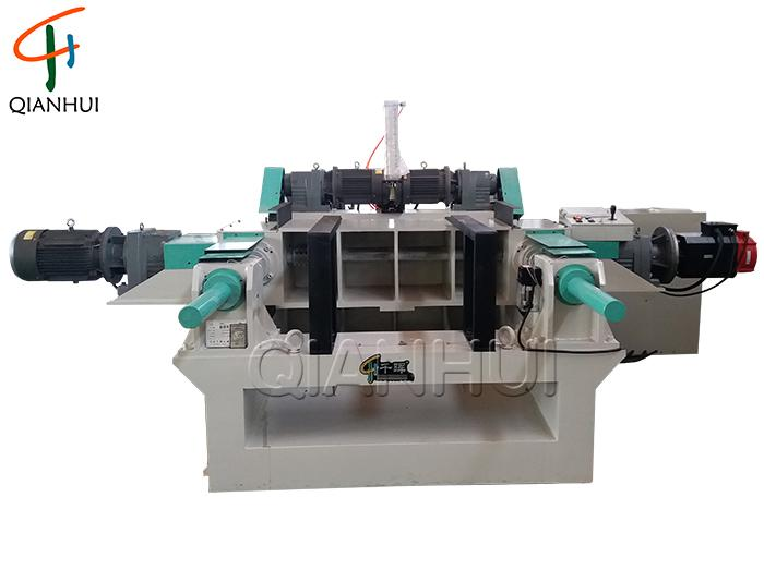 Strong Fast Spindleless Veneer Peeling Machine With Servo For Plywood Core Veneer