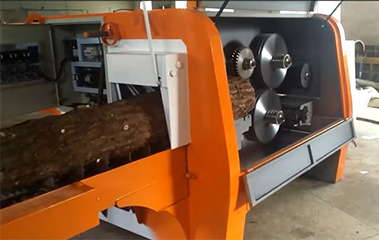 Round Log Multi Blade Rip Saw Machine